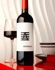 Acordeon Malbec Wine Label and Package Design Thumbnail