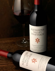Alexander Valley Vineyards Wine Label and Package Design Thumbnail