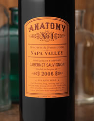 Anatomy Wine Label and Package Design Thumbnail