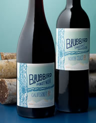 Bluebird Wine Label and Package Design Thumbnail