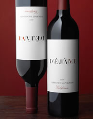 Deja Vu Belgium Wine Label and Package Design Thumbnail