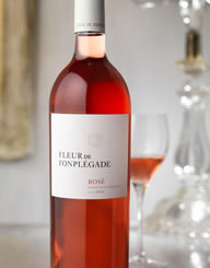 Fleur De Fonplegade Rose Wine Label and Package Design Thumbnail