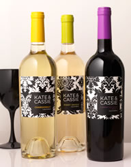 Kate and Cassie Wine Label and Package Design Thumbnail