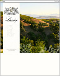 Landy Family Vineyards Website Thumbnail