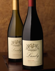Landy Family Vineyards Wine Label and Package Design Thumbnail