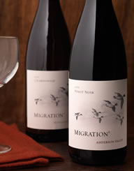 Migration Wine Label and Package Design Thumbnail