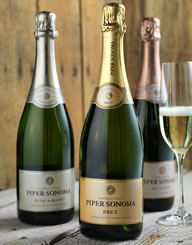 Piper Sonoma Sparkling Wine Label and Package Design Thumbnail