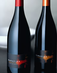 Saracina Vineyards Wine Label and Package Design Thumbnail