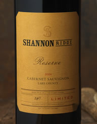 Shannon Ridge Wine Label and Package Design Thumbnail