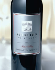 Sterling Vineyards Napa Valley Wine Label and Package Design Thumbnail
