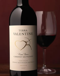 Terra Valentine Wine Label and Package Design Thumbnail