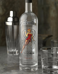 Valentine Vodka Spirits Label and Package Design Thumbnail