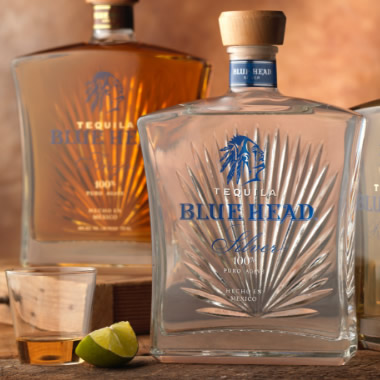 Blue Head Tequila Spirits Label and Package Design Thumbnail