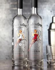 Valentine Vodka Spirits Label and Pacakge Design Thumbnail