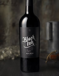 Black Ink Wine Label and Package Design Thumbnail